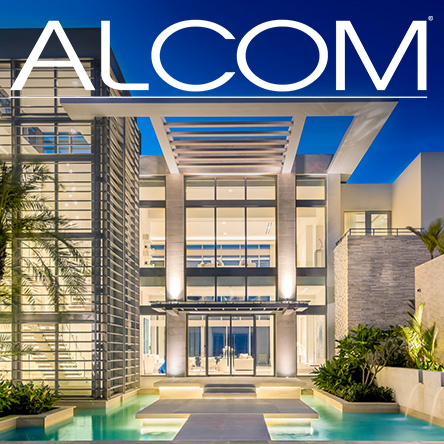 Alcom Productions over architectural photography of St Regis residences at Bahia Beach Resort at dusk